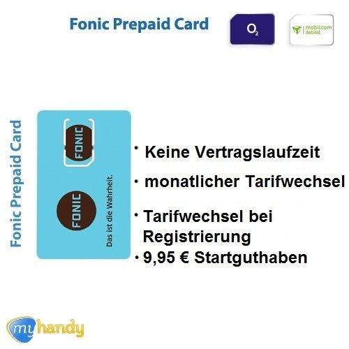 Fonic Prepaid Sim Karte inkl. 9,95€ Startguthaben