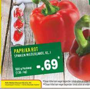 Paprika rot 500g [Netto ohne Hund]