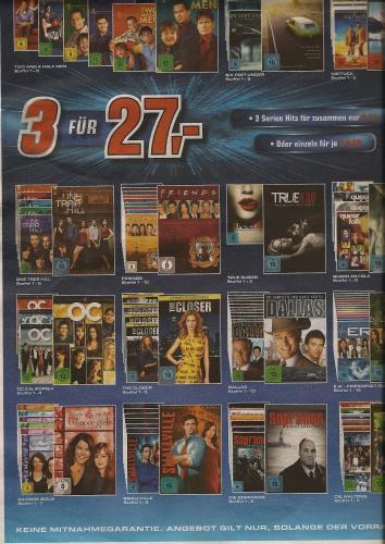 Die Sopranos,  komplette Serie @Saturn Mönchengladbach [nur lokal???], auch andere Serien im Angebot!