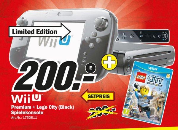 Nintendo Wii U Lego City  Premium Pack Limited Edition für 200€,Nintendo Wii U Just Dance 2014 Basic Pack für 200€ @ Mediamarkt Recklinghausen