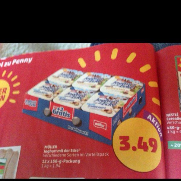 (Penny) 12 Stück Joghurt mit der Ecke für 3,49 Euro (macht 0,29 Euro/St)