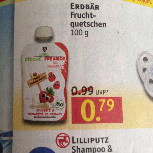erdbär fruchtquetschen rossmann gewinn 0,16 euro