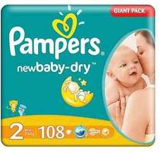 Pam­pers New Baby Giant Pack Gr.2, Mini, 108 St. für 24,35€