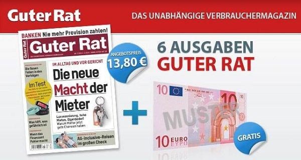 """6 Ausgaben """"Guter Rat"""" dank 10€ Verrechnungscheck für effektiv 3,80€"""