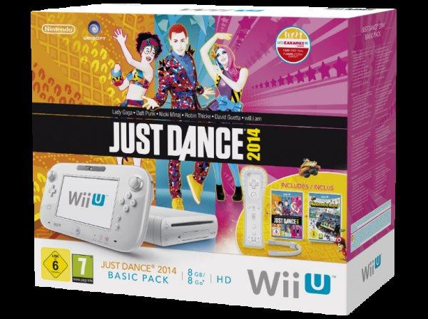 [mediamarkt.de] NINTENDO Wii U/ WiiU Just Dance 2014 Basic Pack weiß + Nintendo Land