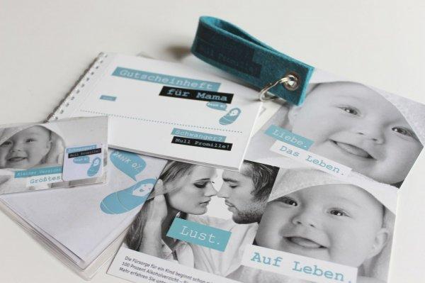 """""""Paket für Schwangere"""" u.a. mit Filzschlüsselanhänger, Mutterpasshülle, Display Reinigungspad u.a. kostenlos (Versand nur nach Bayern)"""