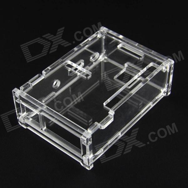 Acryl Gehäuse für Raspberry PI Model B+ inkl. Kühlkörper aus Aluminium