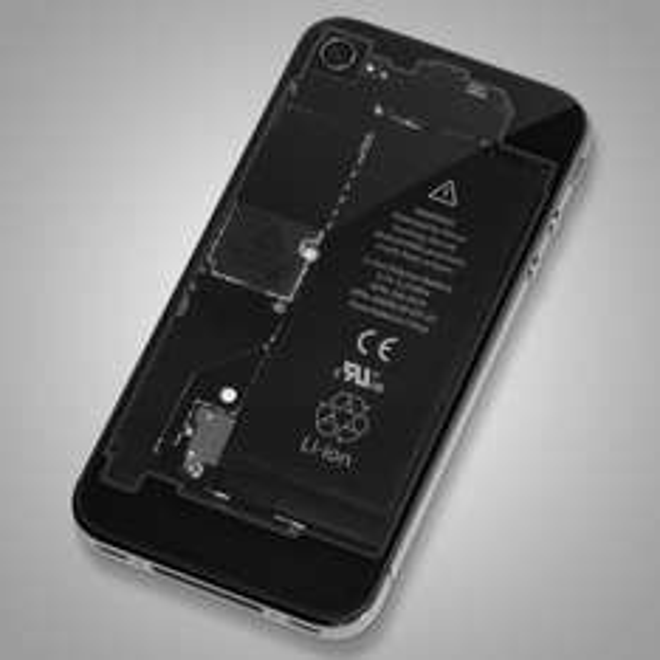 12,48 Euro | iPhone 4 4S Backcover Akkudeckel transparent rot blau weiss schwarz