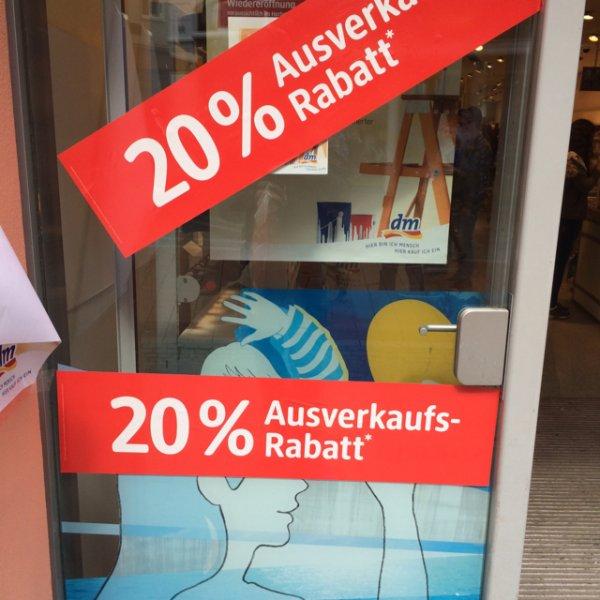 DM Bonn Sternstrasse 20% Rabatt.