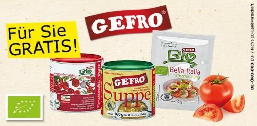GEFRO Gratis-Testpaket mit 3 Produkten