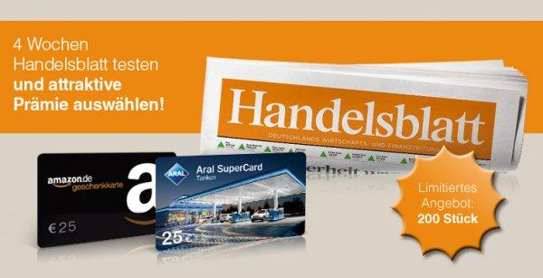 4 Wochen Das Handelsblatt für effektive 0,10€ Gewinn lesen