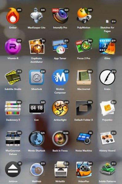 Pick a Bundle deal - Wählt 10 aus 30 Mac Apps für nur 29,22€