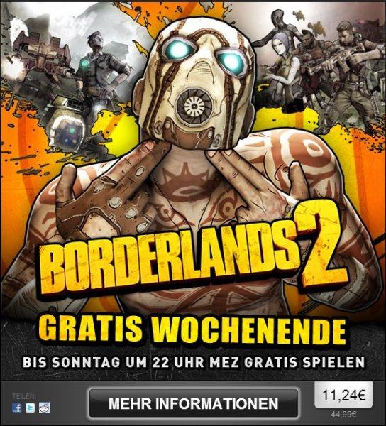 [Steam] Borderlands 2 Gratis Wochenende