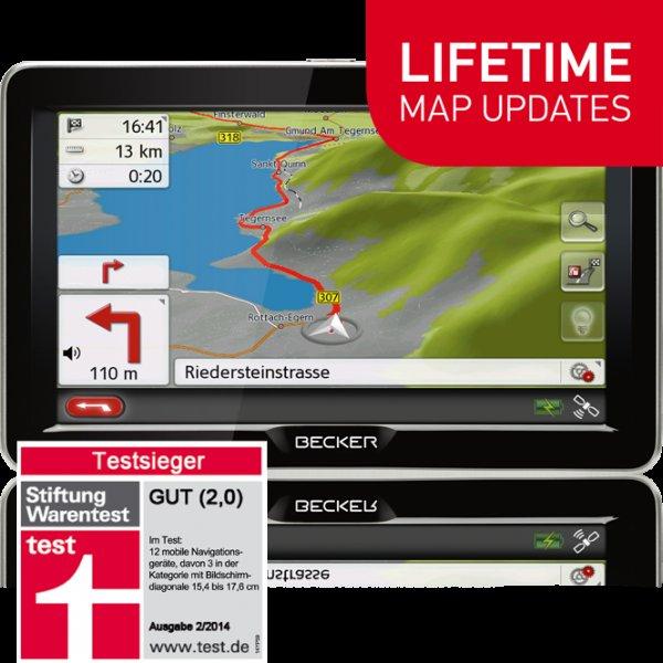 """7"""" Navigationsgerät incl. Blitzerwarner-Jahresabo - Becker Ready 70 LMU 199,- + Versand"""