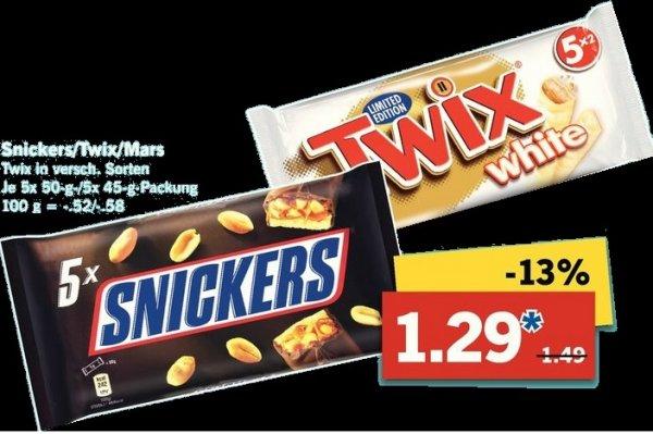 Twix White Limited Edition in 5er Pack im Angebot bei Lidl für 1,29€. Selbstabholung :))