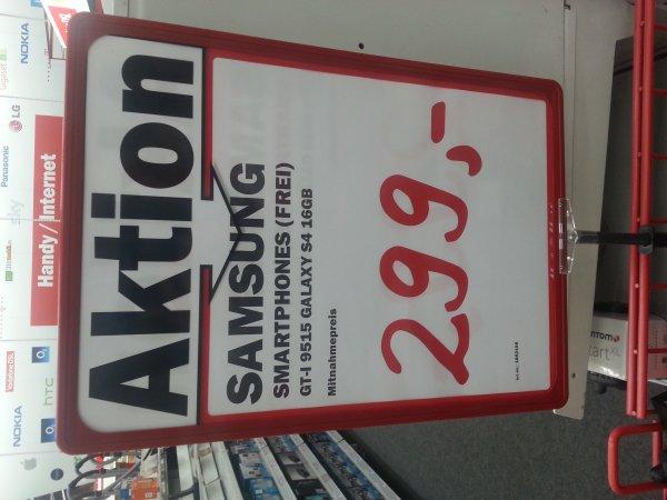 Lokal? MM Hamburg Wandsbek: Samsung Galaxy S4 für 299€ (Idealo: 349€)