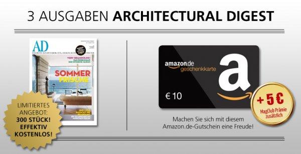 3x Architectural Digest für 13,80€ + 15€ Gutschein