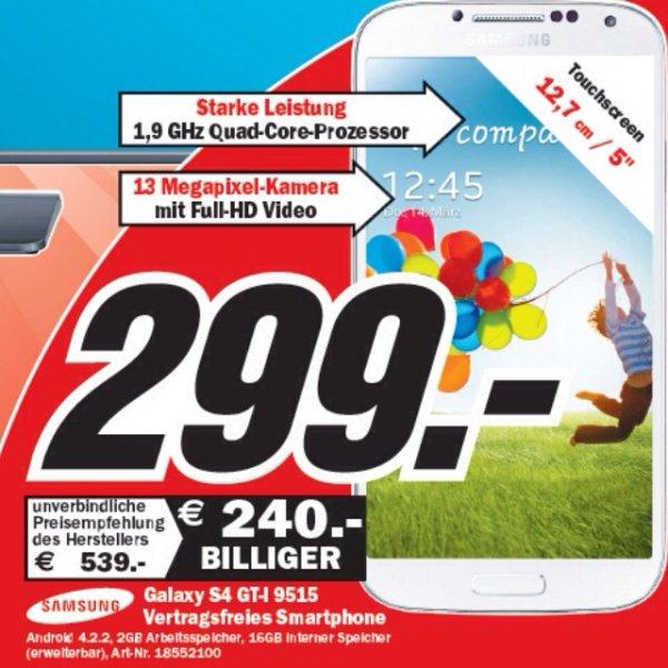 [Lokal Mediamarkt Wiesbaden] Samsung S4 für 299€
