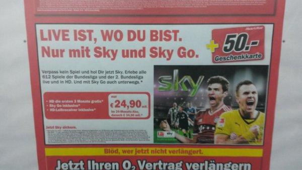 Sky vertrag mit 50€ Gutschein !!