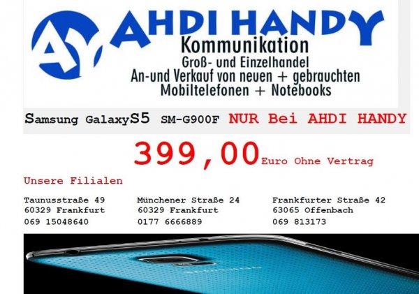 Samsung Galaxy S5 (SM-G900F) @FFM/OF evt. Online 399,-