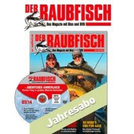 """Jahresabo für """"Der Raubfisch"""" zum halben Preis  oder Begrüßungsgeschenk (Angelrute)"""