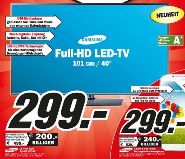 LOKAL: Samsung UE 40 H 5090 bei Media-Markt Bischofsheim+Wiesbaden