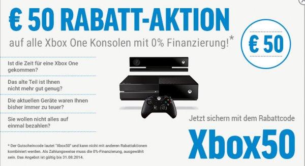 Xbox One ohne/mit Kinect 329€/389€ + Versand - (50€ Rabatt bei 0% Finanzierung) - notebooksbilliger.de