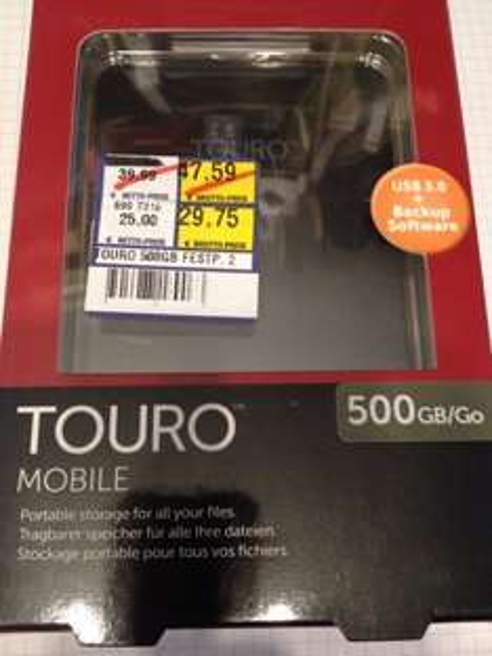 Touro 500 GB USB 3.0 Festplatte (METRO M-Euroindustriepark)