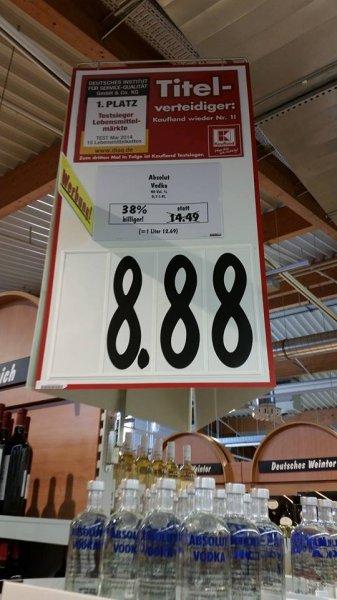 Absolut Vodka (0,7l) für 8,88€ - Kaufland Bayern (Erding) evtl. Lokal