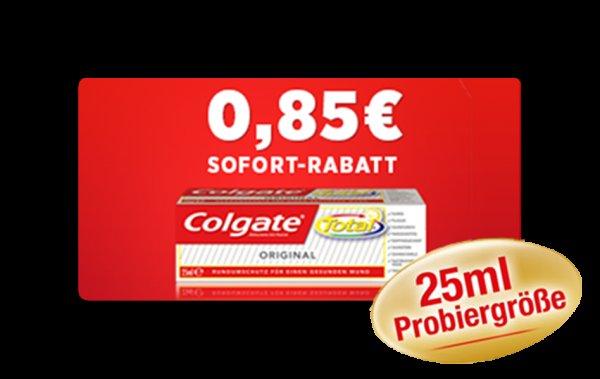 DM, Rossmann: Gratis 25ml-Zahnpastatube COLGATE TOTAL - dank Coupon
