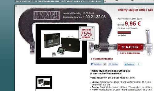 thierry mugler Business set für 9,95€