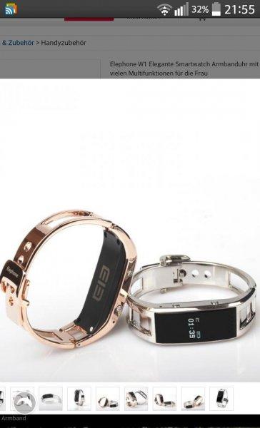Efox: Smartwatch für Frauen 30 € elephone w1