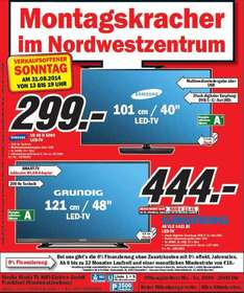 Samsung UE 40 H 5090 für unschlagbare  299,-