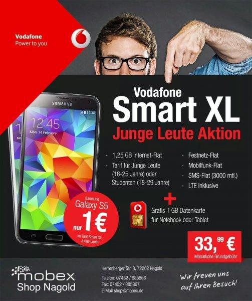 In Nagold: Vodafone smart XL Junge Leute + 1 GB Datenkarte + Samsung Galaxie S5