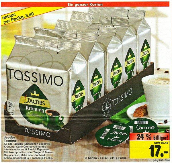 (Kaufland Eiche u. Berlin Biesdorf) Tassimo - 5er Pack für 17 € (3,40 € pro Packung)