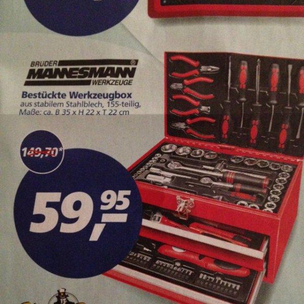 Mannesmann Werkzeugbox 155 teilig - @ Real (auch online)