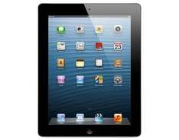 APPLE iPad Retina (4. Generation) Wi-Fi + Cellular (4G), 128 GB, weiß / schwarz @meinpaket 539,-€