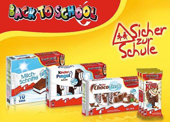 "Kinderpingui ""Back to school"" Aktion"