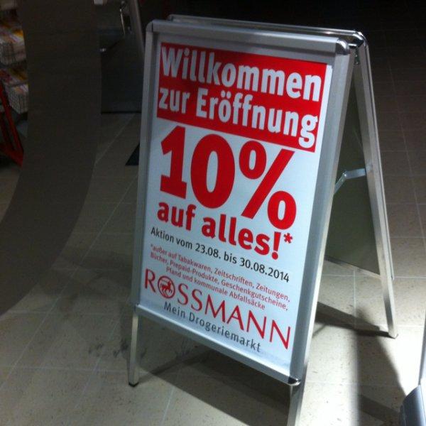 [Lokal Dresden] 10% bei Neueröffnung Rossmann Kesselsdorfer/Tharandter