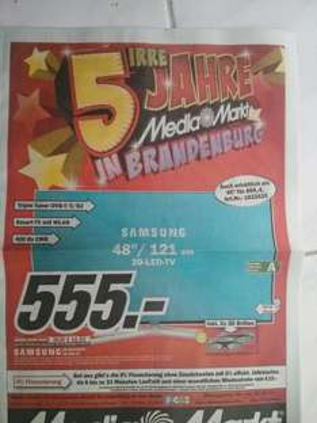 [Lokal] Samsung UE 48 H 6470 LED 3D TV