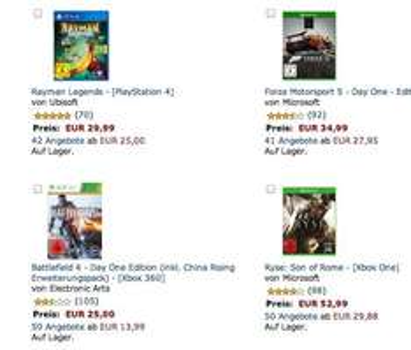 Amazon - 3 Games kaufen, 2 bezahlen (PC,Xbox,One,PS4,PS3)