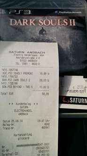 [lokal Ansbach] Dark Souls 2 (PS3) für 29€
