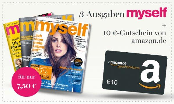 3x myself für 7,50€ + 10€ Amazon Gutschein