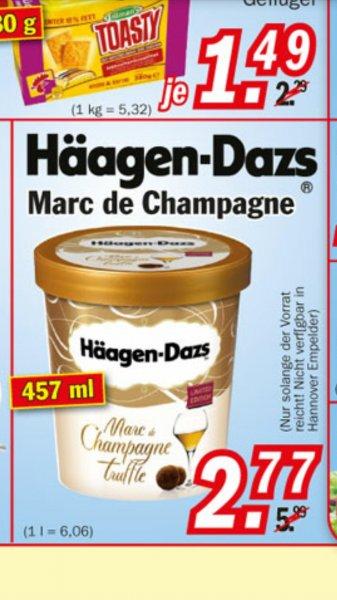 Häagen-Dazs Marc de Champagne 457ml  2,77€ bei Zimmermann