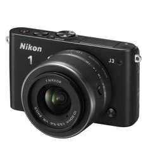 Nikon 1 J3 inkl. Nikkor VR 10-30mm Objektiv Systemkamera (schwarz)