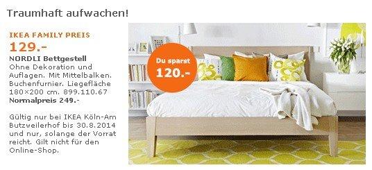 [Lokal][Ikea Köln Butzweilerhof] Nordli Bettgestell 129€ statt 219€