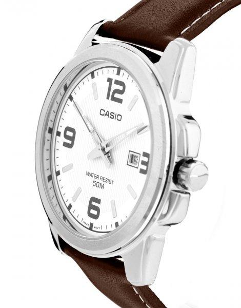 """Casio™ - Herren Leder-Armbanduhr """"MTP-1261E-7AEF"""" (im Summer Sale mit bis zu 75 Prozent Rabatt) für €21,36 [@Asos.de]"""