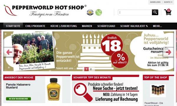 18% auf alle Produkte bei Pepperworld z. B.  4X Bumble foots hot sauce