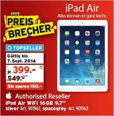 [Schweiz / lokal] Apple iPad Air 16GB Wifi für 330 EUR (InterDiscount)