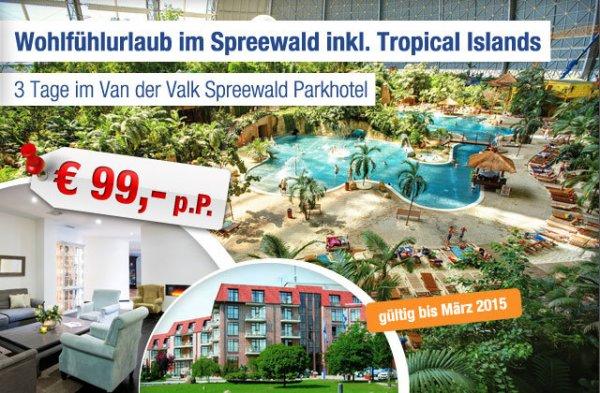 3-tägiger Wohlfühlurlaub im Spreewald inkl. Tropical Islands!